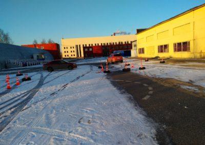 Площадка для вождения автошколы МЧС СПб